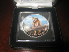 Canada 2012 $5 Fine Silver Full Color Finish Cougar - Limited Mintage