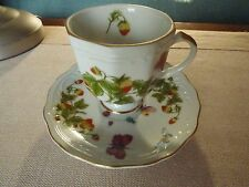 Tea Cup and Saucer Set LENWILE ARDALT Butterflies & Strawberries