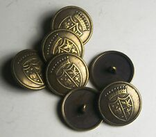 Pack of 8 23mm Germanic Heraldic Antique Gold Military Style Button 2024