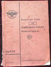 Hanomag Radschlepper Typ R24 Ersatzteilliste