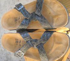 """Birki's """"230"""" Black 36/35 L5 Criss Cross Buckle Sandals"""