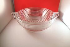 Vintage Anchor Hocking Manhattan Clear Glass Master Berry Fruit Bowl