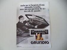 advertising Pubblicità 1977 AUTORADIO GRUNDIG WKC 2520