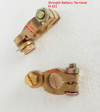 12 V Car Battery Terminals Clamps Connectors Heavy  Brass Bolts P&N+ / - (M 611)