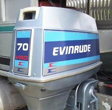 Evinrude Outboard Hood Decals 70hp
