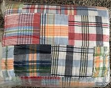 Pottery Barn Kids MADRAS plaid FULL QUEEN quilt multi color