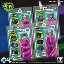 BATMAN CLASSIC TV SERIES 2 HEROES IN PERIL 8 INCH FIGURES PURPLE BAG SET OF 4