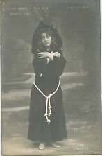 CARTE POSTALE PHOTO BIOLETTO / LA SCALA DE LYON 1908 L'ERMITE Mlle VILLIER