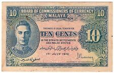 1941 King George VI 10¢ Banknote