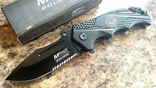 "MTech 8.25"" Half Serrated Spring Assisted Folding Rescue Pocket Knife Switch"