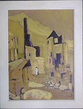 FRAMED OIL ON BOARD PAINTING by ROSEMARY ZIAR A STUDY OF TIN MINES IN CORNWALL