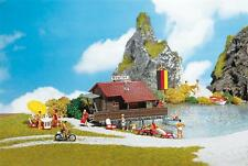 Faller Boathouse and Boat 130284 HO & OO Scale