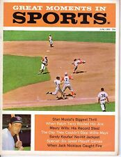 1963 Great Moments in Sports Baseball magazine,Stan Musial~St. Louis Cardinals~G