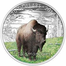 Canada 2016 Majestic Iconic Animals Benevolent Bison Buffalo $20 Silver Proof