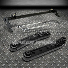 BLACK LOWER CONTROL ARMS+TRACTION BAR SUSPENSION KIT 88-91 HONDA CIVIC/CRX ED/EE