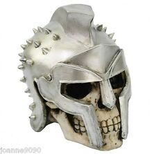 NEMESIS NOW GLADIATOR SKULL ORNAMENTAL SKELETON BONE DISPLAY PROP MEDIEVAL ROMAN