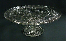"SCARCE Circa 1910 Indiana Pattern Glass ""Bird and Strawberry"" Cake Stand REDUCED"