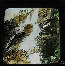 HAND COLOURED Glass Magic lantern Slide UNKNOWN LOCATION 1 C1890 NORWAY L65