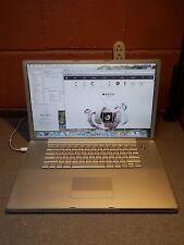 "Apple Powerbook G4 Aluminum A1085 17"" 1.5 Ghz 2.0GB 160GB SuperDrive OS 10 5 8"