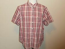LACOSTE SHORT-SLEEVE BUTTON-FRONT MULTI-COLOR SMALL CHECKS COTTON REGULAR MEN 46