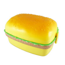 Hamburger Burger Shape Bento Lunch Box Snack Food Container Novelty for Kids