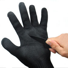 Black Soft Stainless Steel Wire Safety Cut Metal Mesh Butcher Gloves Protector