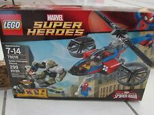 LEGO 76016 MARVEL SUPER HEROES SPIDER-HELICOPTER RESCUE - NEW 4 figures