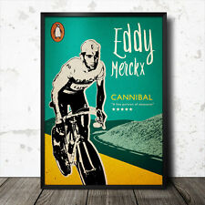 eddie merckx cycling poster tour de france retro vintage