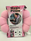 Microbead Lightweight Neck Support Pillow Travel Car Holiday Plane Cushion Pink