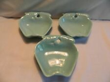 3 VINTAGE BELMAR OF CALIF 734 AQUA APPLE DISHES