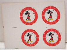 DISNEY MICKEY MOUSE CHARACTER WATCH FACE SHEET FACTORY PRODUCTION WATCHES PAGE