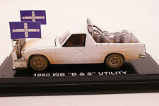 NEW Cooee Road Ragers 1980 Holden WB V8 Ute B & S Alabaster White Dirt Look 1:64