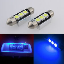 License / Number Plate LED Light Bulbs 3SMD For VW Golf Mk4 Mk5 5 V TDI - Blue