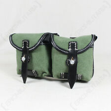 German Army G43 Rifle AMMO POUCH - NEW Green Canvas WW2 Reproduction Field Gear