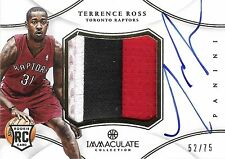 Terrence Ross 2012-13 Immaculate Premium Autograph & 3-Color Patch 52/75 RC Auto