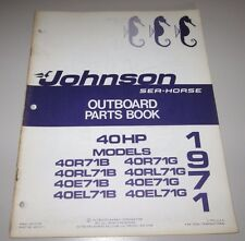 Parts Book Johnson Sea Horse Ersatzteilkatalog 40 HP Models Stand 1971!