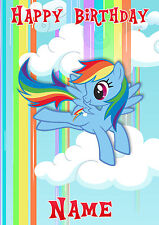 My Little Pony Rainbow Dash *Personalised Birthday Card* Any Name A5 (MLP2)