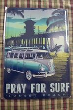 VW Camper Van Tin Metal Sign Painted Poster Wall Art Office Hobby Shop Garage