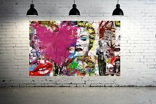 Banksy Collage Street Art Canvas Print Huge 36 x 24 print  Insane Print - Vol. 3