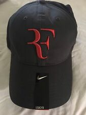 ** RARE Roger Federer Nike Black and Red Cap Hat RF **
