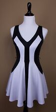 XOXO FIT & FLARE ELEGANT BLACK & WHITE CHIC SLEEVELESS  PARTY DRESS GRADUATION