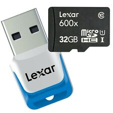 Lexar 600x microSDHC micro SD TF 32GB Class 10 UHS-I Memory Card w/USB3.0 Reader