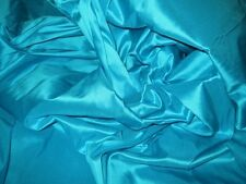 "100% Pure Authentic Silk Taffeta 2-Ply Hand Made Fabric 40""W BTY Color #1-30"