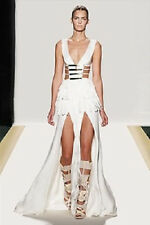 Celebrity Designed Cicily Style Fringed White Prom Leger Bandage Dress