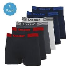 6 Mens Microfiber Boxer Briefs #MS39 Underwear Compression Knocker One Size