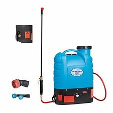 12V Battery Pump Backpack Agricultural Sprayer 4 Gal 16L Five Speed Water Flow