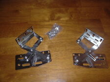PAIR OF 2 LID HINGES 50 DEGREE FOR CHEST SEAT TRUNKS BOXES DOES LOCK IN PLACE