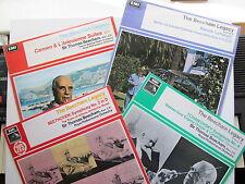 """4 * 12"""" Lp's The Beecham Legacy Volumes 1, 4, 7 & 10. HMV HQS 1108/36/54/HQM1167"""