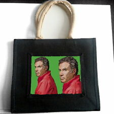 WILL FERRELL JUTE TOTE SHOPPING BAG PHOTO FAN POP ART GIFT