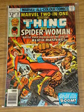 MARVEL TWO-IN-ONE #30 FN- (5.5) MARVEL SPIDERWOMAN